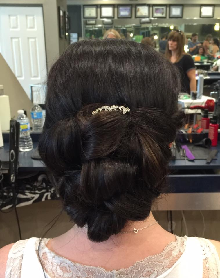 Long Island bridal trial at Dominic Riccis Salon