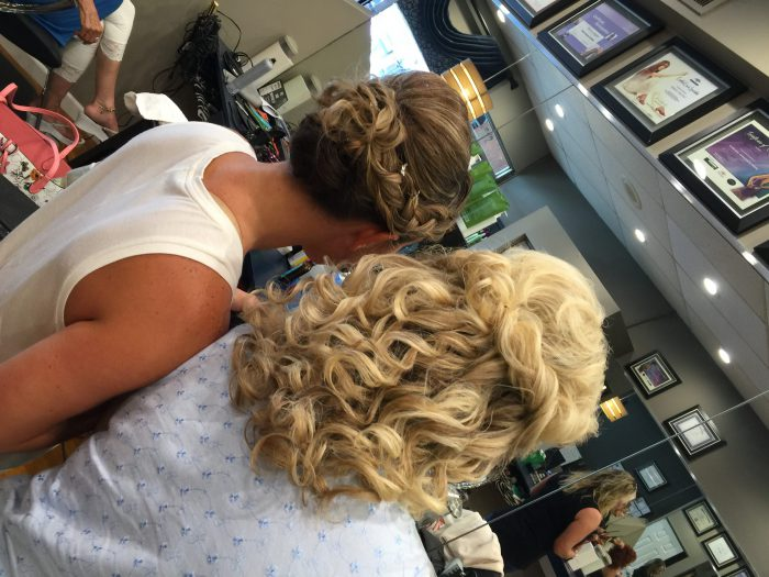 Mother and Bride Hair Trial