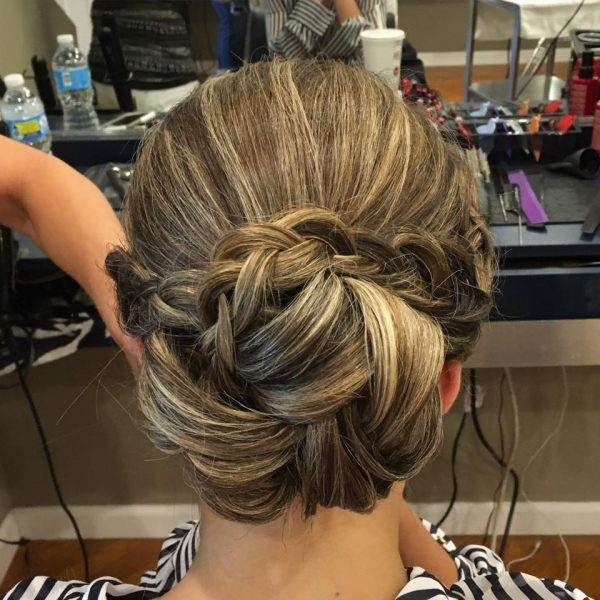 Long Island bridal hair done at Dominic Ricci's Salon