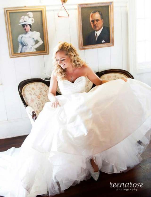 Happy bride who went to Dominic Ricci Salon